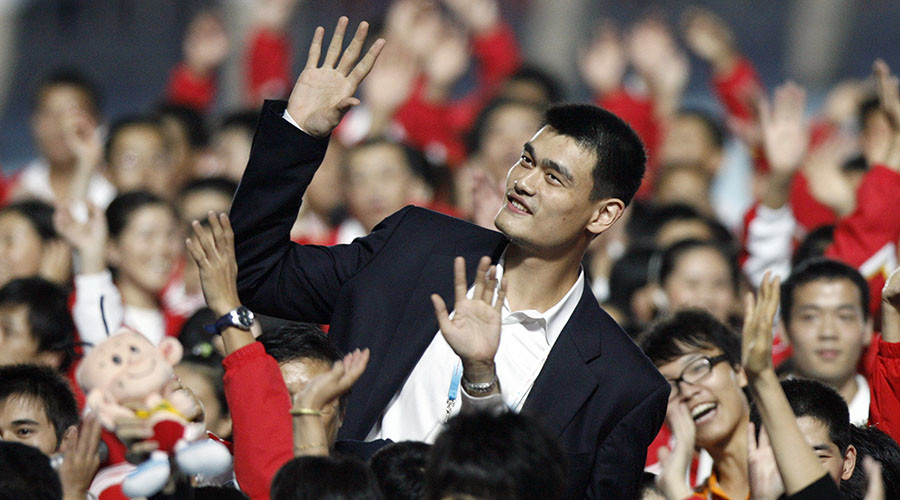 The basketball star will help publicise China's mission to Mars. © Nir Elias