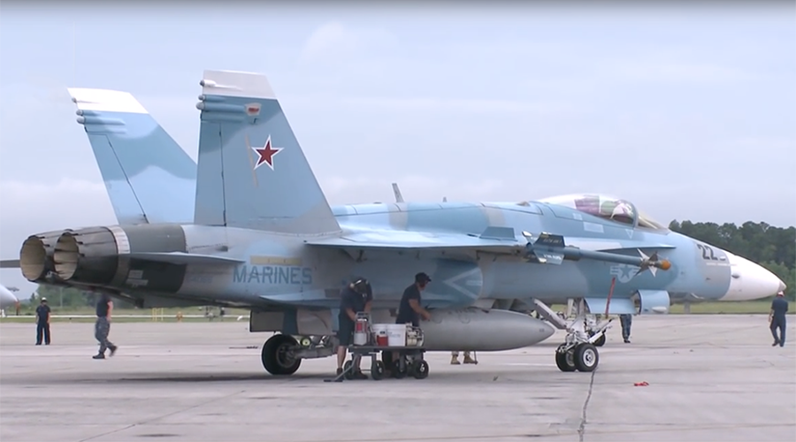 Aggressor squadron? Pics of US jets painted in Russian colors spark Syria false flag conspiracy