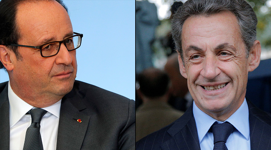 French President Francois Hollande and Former French President Nicolas Sarkozy © Reuters