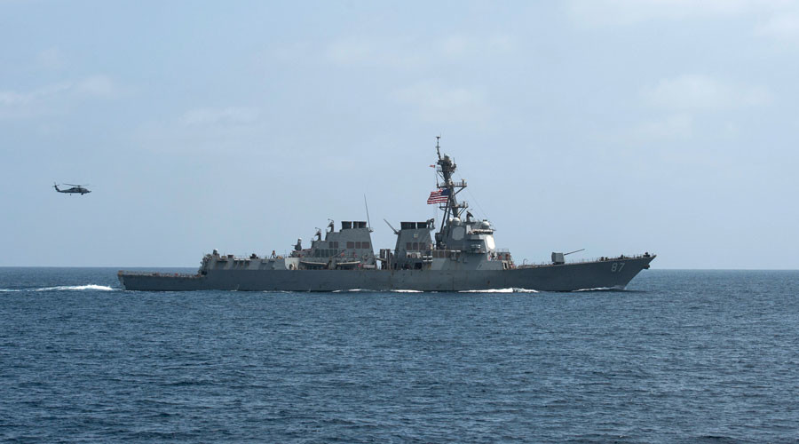 The U.S. Navy guided-missile destroyer USS Mason © Blake Midnight