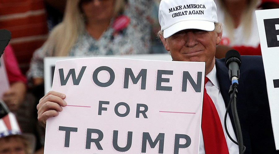 #WomenWhoVoteTrump unite behind Republican candidate despite lewd comments