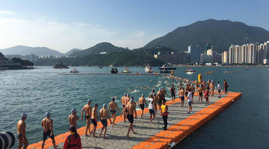 Swimmer dies in Hong Kong harbor race