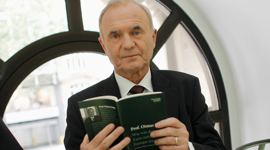 Otmar Issing, one of the founding fathers of the euro and a former European Central Bank chief economist © Alex Domanski