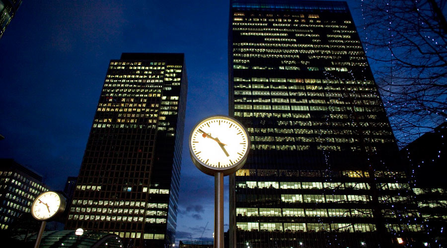 The financial district of Canary Wharf in London © Kevin Coombs