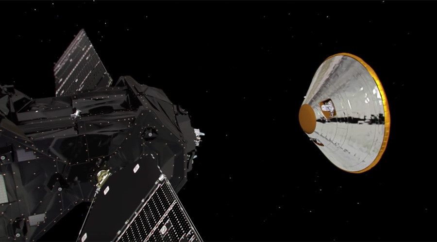 ExoMars 2016 mission: Lander chute didn't detach as expected, signal lost one minute before landing