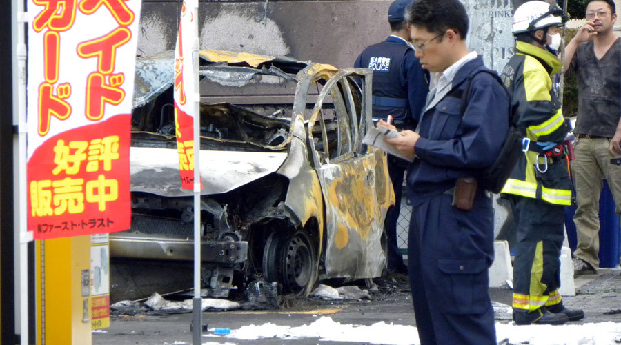 72yo retired Japanese soldier blows himself up in park, injuring 3 people