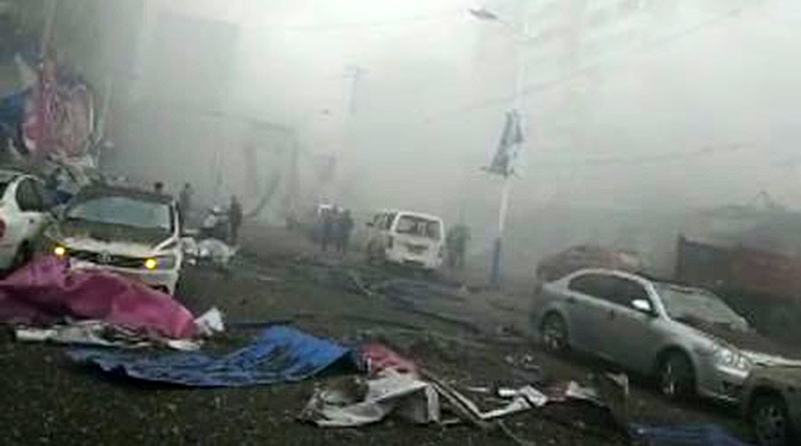 Death toll in China blast reaches 10, at least 150 injured