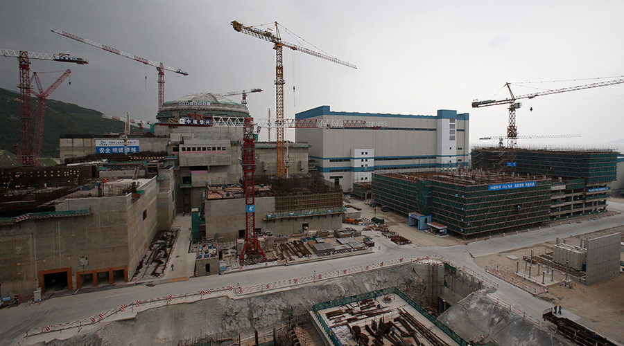 A nuclear reactor and related facilities as part of the Taishan Nuclear Power Plant, to be operated by China Guangdong Nuclear Power, is seen under construction in Taishan, Guangdong province © Bobby Yip