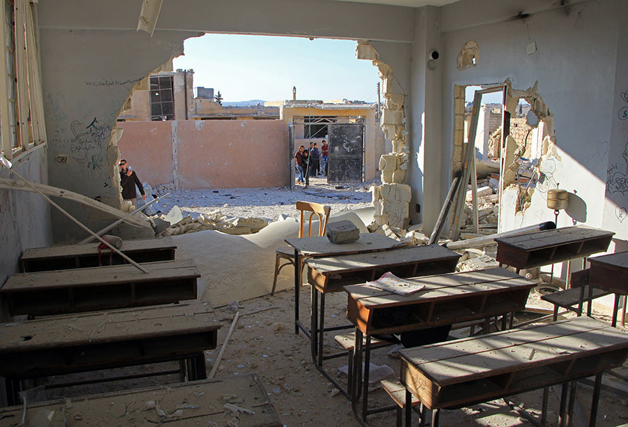 Image result for idlib school attack