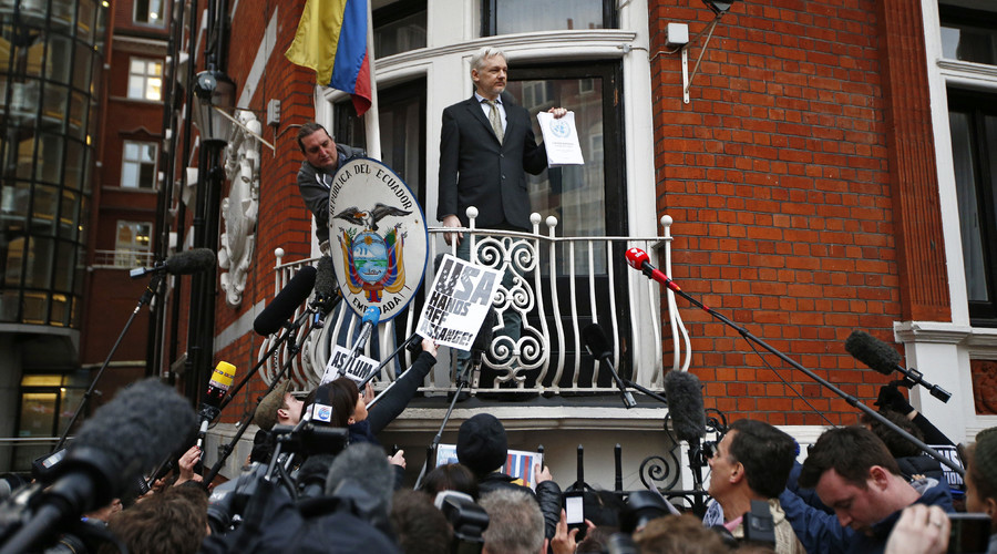 Assange spoke via telephone to a conference in Argentina. © Peter Nicholls