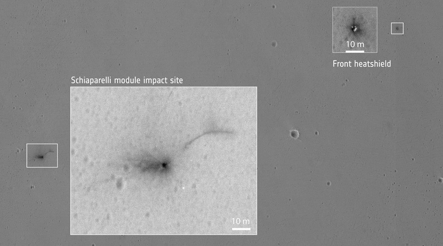 Fate of Mars Schiaparelli lander revealed in hi-res NASA images