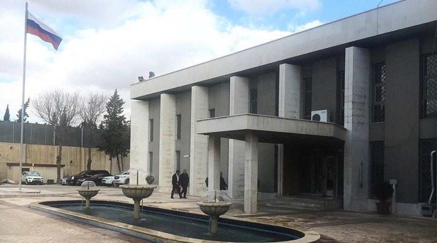 Russian embassy in Damascus shelled from terrorist-controlled area