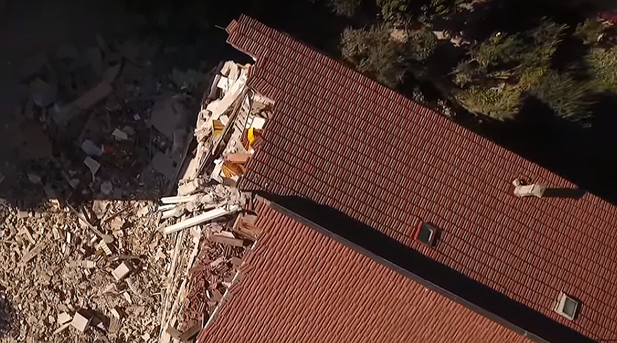 Drones film harrowing devastation of Italian towns after violent earthquake (VIDEO)