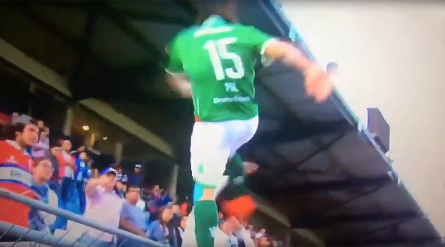 Furious footballer faces jail after attack on rival fan in South America (VIDEO)