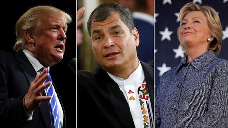 Donald Trump, Rafael Correa, Hillary Clinton © Jonathan Ernst, Brian Snyder,Marcos Brindicci