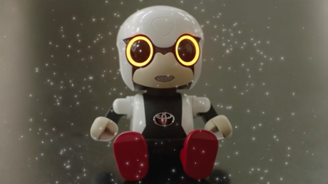 The robot is designed to evoke an emotional response from it's owner. © toyotajpchannel