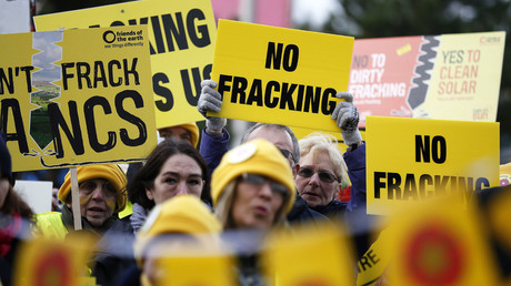 Anti-fracking demonstrators, Britain © Phil Noble
