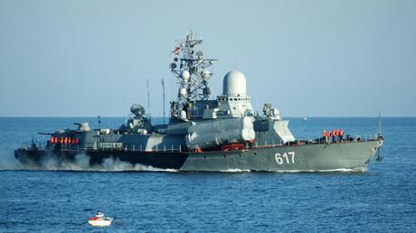 Guided-missile corvette Mirazh of the Russian Black Sea fleet in Sevastopol. © Vasiliy Batanov