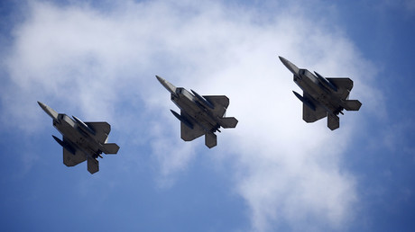 U.S. F-22 stealth fighter jets © Kim Hong-Ji