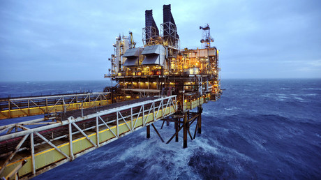 A section of the BP Eastern Trough Area Project (ETAP) oil platform is seen in the North Sea, around 100 miles east of Aberdeen in Scotland. © Andy Buchanan