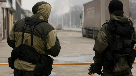 FILE PHOTO: The Chechen Interior Ministry troops during a counter-terrorism operation in Grozny © Sputnik