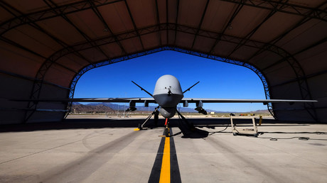 Air Force says ISIS drone brought down by 'electronic measures'