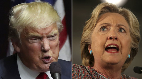 U.S. Republican presidential candidate Donald Trump (L), U.S. Democratic presidential nominee Hillary Clinton (R) © Reuters