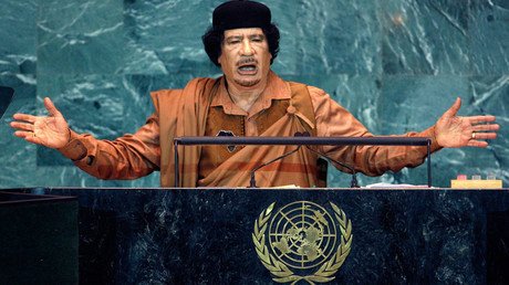 Muammar Gaddafi © Mike Segar