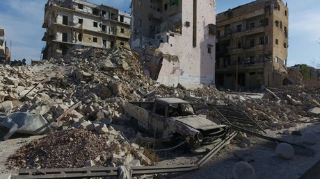 A general view of the bomb damaged Old City area of Aleppo, Syria © Reuters