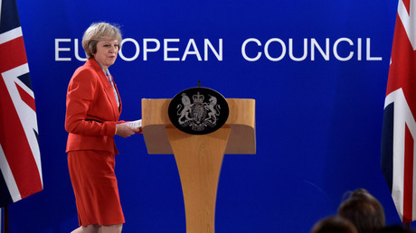 Britain's Prime Minister Theresa May holds a news conference after the EU summit in Brussels, Belgium October 21, 2016. © Eric Vidal