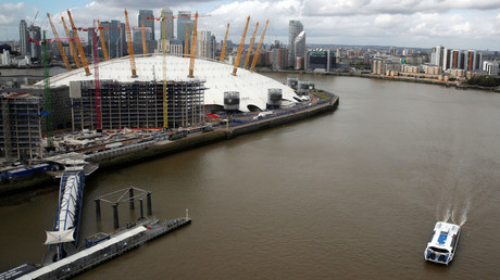 A Thames Clipper river bus is seen on the River Thames near the O2 Arena in London. © Amr Abdallah Dalsh