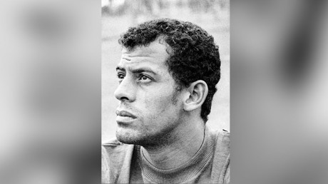 Portrait of Brazilian national soccer team defender Carlos Alberto taken 29 May 1970 in Mexico City. © AFP