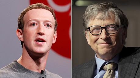 Mark Zuckerberg (L) and Bill Gates © Reuters