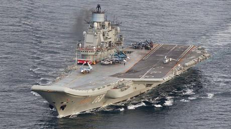 Russian aircraft carrier Admiral Kuznetsov. ©NTB Scanpix