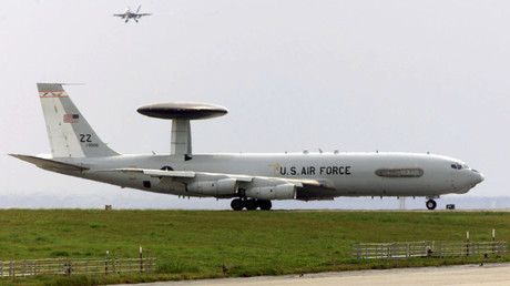 US E-3 Sentry airborne warning and control system aircraft (AWACS). © Reuters