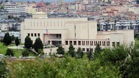 The U.S. consulate building in Istanbul, Turkey © Yagiz Karahan
