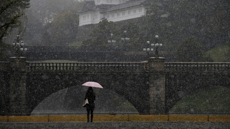 tokyo stunned by first november snow in 54 years photos