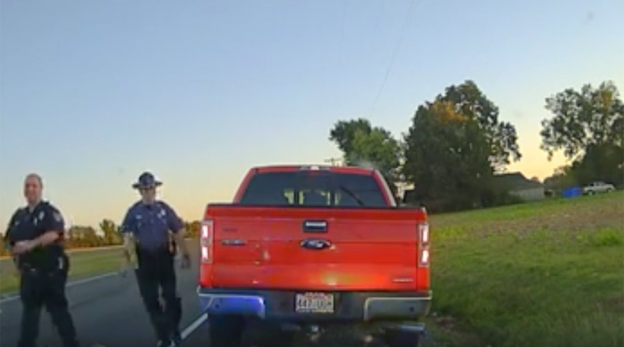To protect and swerve: Police chief caught speeding, gets a laugh but no ticket (VIDEO)