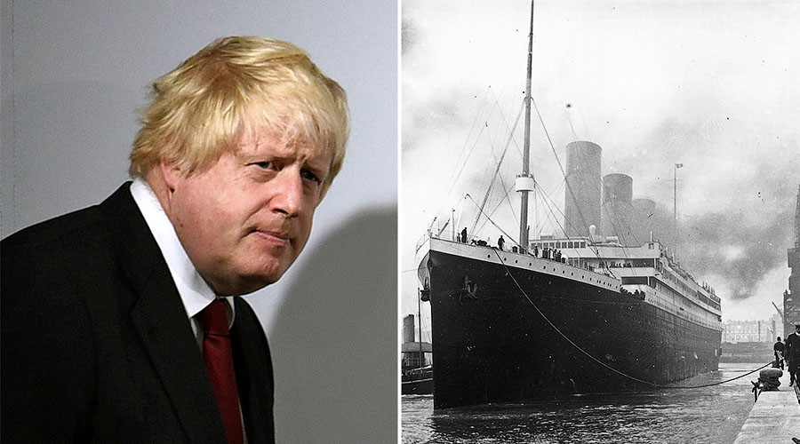 Not the best analogy, Boris! Foreign Sec says UK 'will make Titanic success of Brexit'