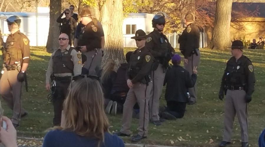 14 Dakota Access protesters arrested near state capitol building