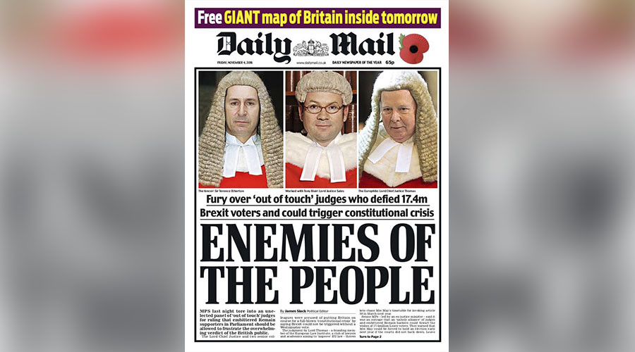 #StopFundingHate: Twitter users demand Daily Mail boycott over Brexit ruling coverage