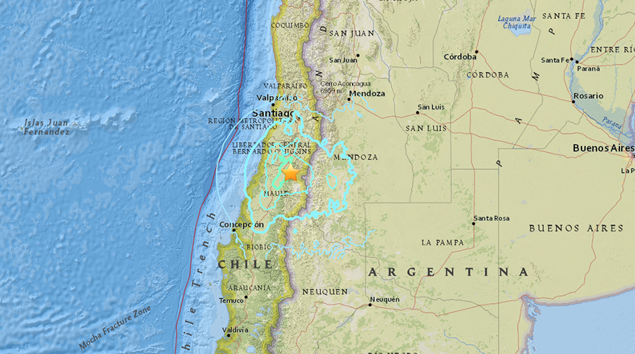 6.4 quake hits Chile, shakes capital Santiago
