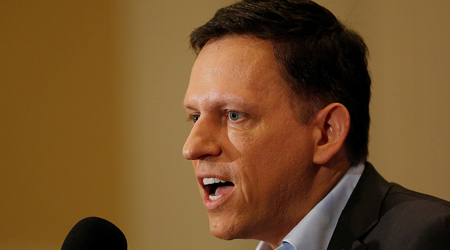 Peter Thiel has spoken in support of Republican candidate Donald Trump. © Gary Cameron