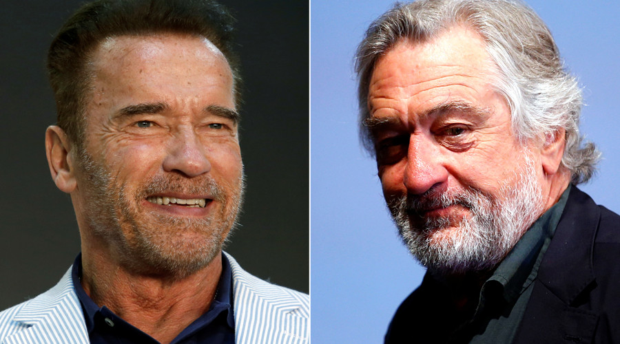 De Niro, Schwarzenegger clash over US election at event which raises $38mn for IDF