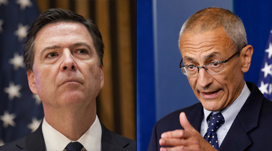 FBI Director James B. Comey and John Podesta © Darren Ornitz / Kevin Lamarque