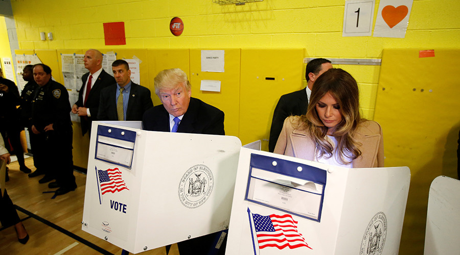 Trump booed & heckled at NY polling place