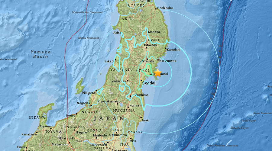 6.2 quake strikes off Japan