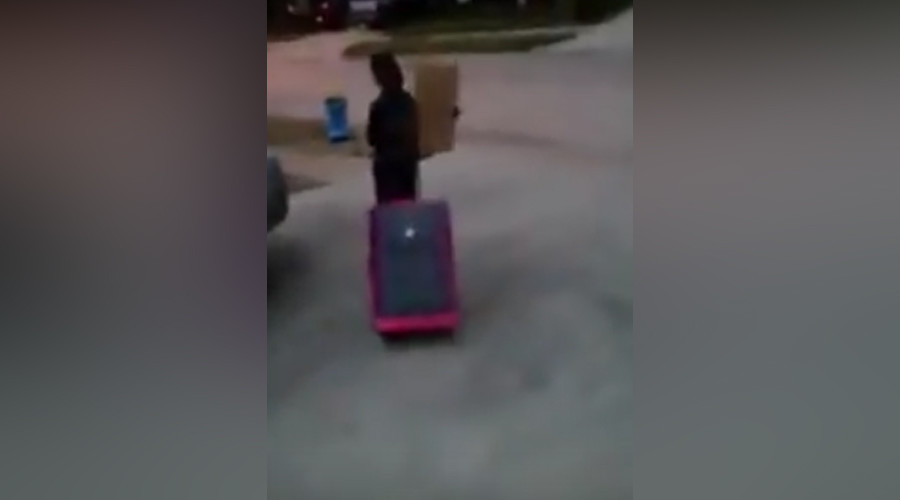 Texas mom packs young son's suitcase, throws him out for voting Trump
