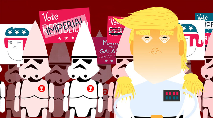 Rogue won: Trump/Clinton clash reimagined as Star Wars story (VIDEO)