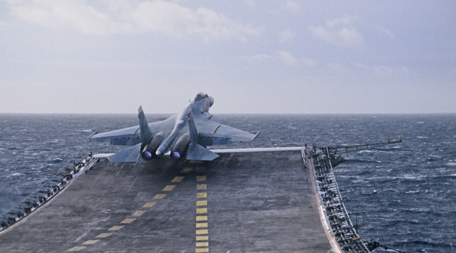 Russian carrier-based jets perform 'interaction' flights in Syria